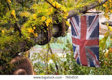 Antique Bowsprit And Union Jack
