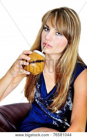 Fashion Drinking Girl