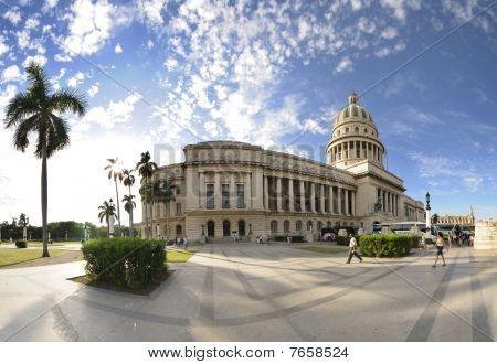 Havana Capitol Panorama, Cuba. Dec 2009