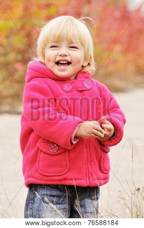 Happy Blonde Baby