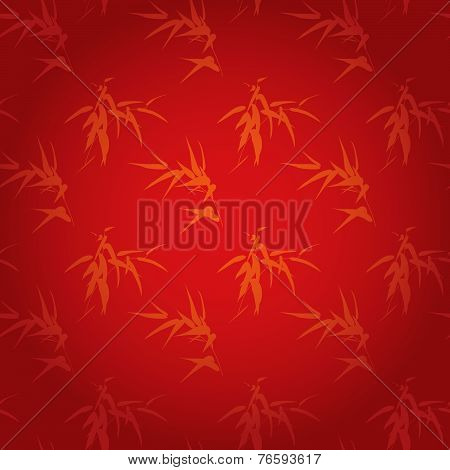 Red Chinese bamboo pattern