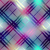 Seamless background pattern. Diagonal plaid on blur background poster