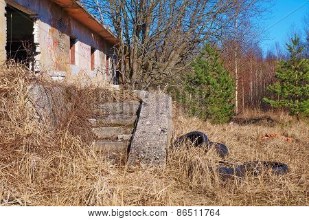 The ruins of an abandoned house