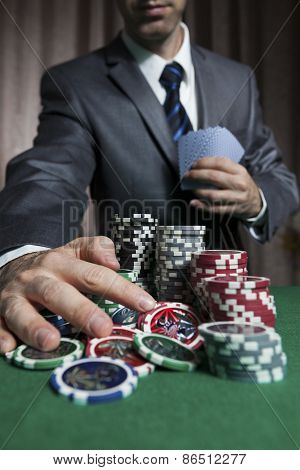 Blackjack Winner,businessman Won In Blackjack Game