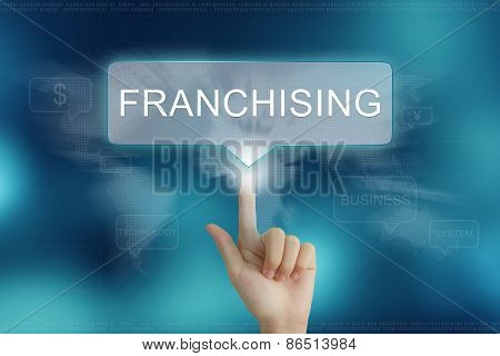 Hand Clicking On Franchising Button