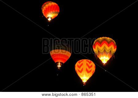 Balloons lighting up the darkness, Reno, Nevada poster
