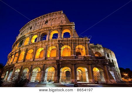 Colosseum Dome in Twilight