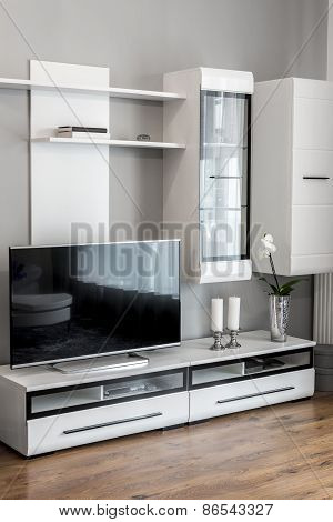 Modern Living-room With Tv