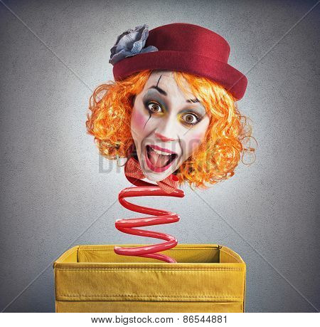 Magic box clown