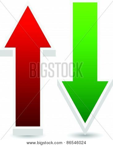 Green And Red Up, Down Arrows