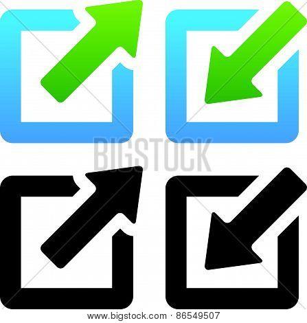 Shrink / Enlarge Or Minimize / Maximize Icons