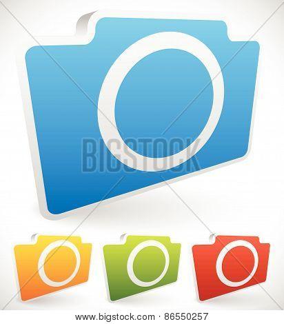 Colorful Photo Camera Icons