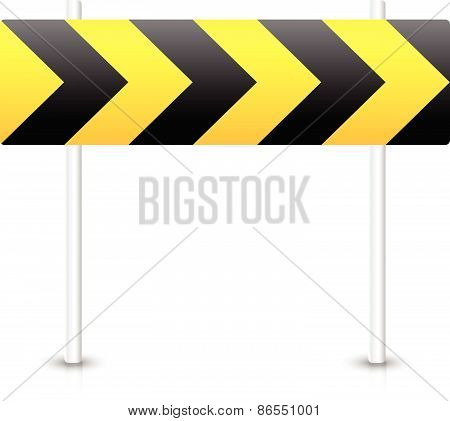 Road Construction Road Sign. Roadblock, Bypass, Diversion, Roundabout Concepts.