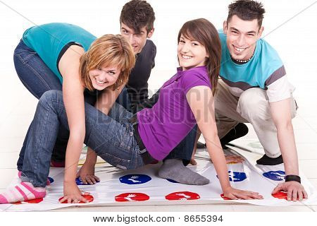 Teenagers  Playing Twister