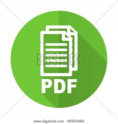 pdf green flat icon pdf file sign