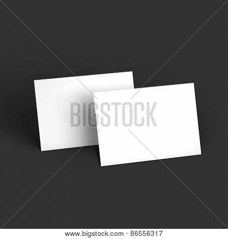 Magazine, booklet, postcard or brochure mockup template. Vector Illustration EPS10. poster