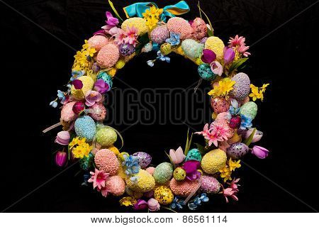 Easter circlet of flowers