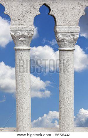 beautiful Sky Seen Through Marble Columns
