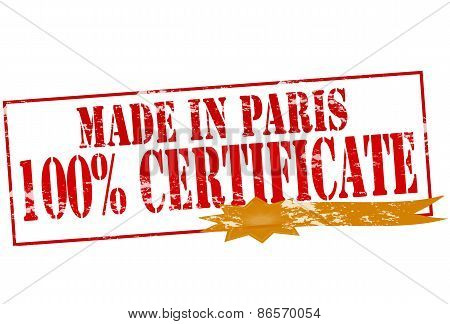 Made In Paris One Hundred Percent Certificate