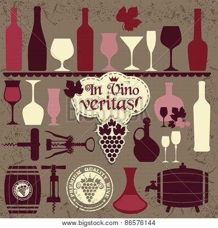 Vector Stock Illustration of wine