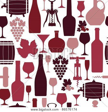 Vector Stock wine pattern