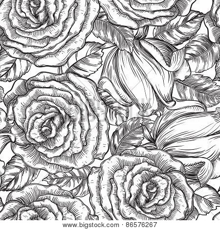 Vintage floral backgrounds