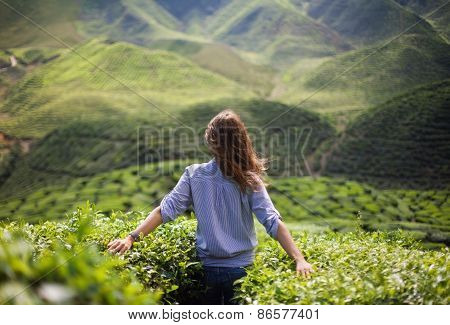 Girl In Mountains