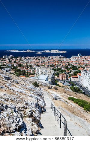 View of Marseille, southern France