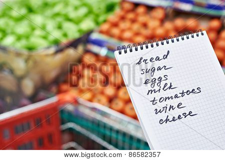 Shopping List In Hand