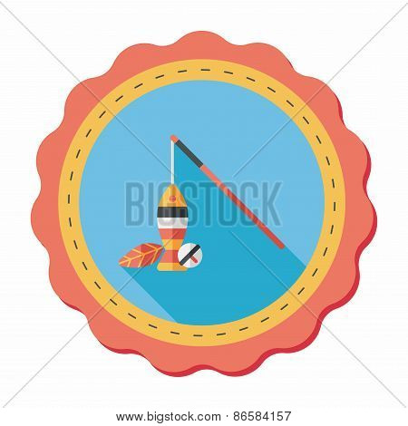Pet Cat Toy Flat Icon With Long Shadow,eps10