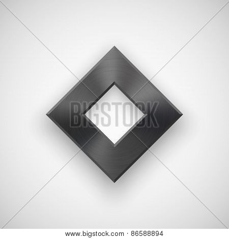 Black Abstract Rhombic Button Template