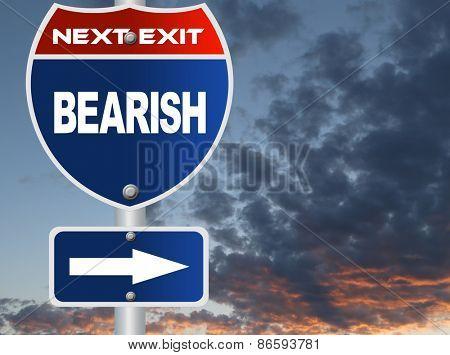 Bearish road sign
