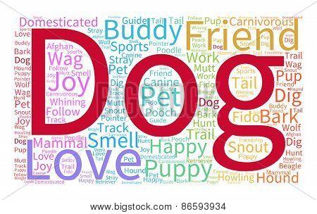 Dog Rainbow Word Cloud