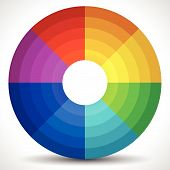 Eps 10 Vector Illustration of a Circular Color Wheel / Color Palette poster