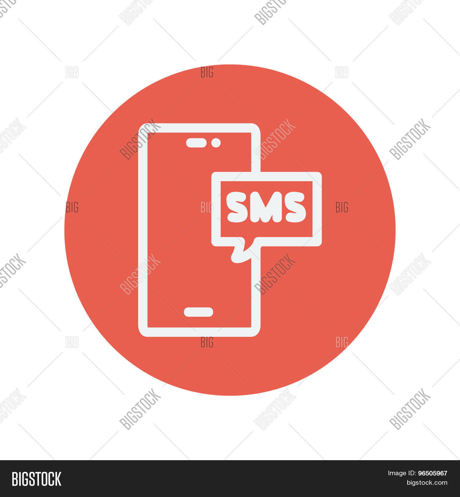 Mobile Phone Sms Can Vector Photo Free Trial Bigstock