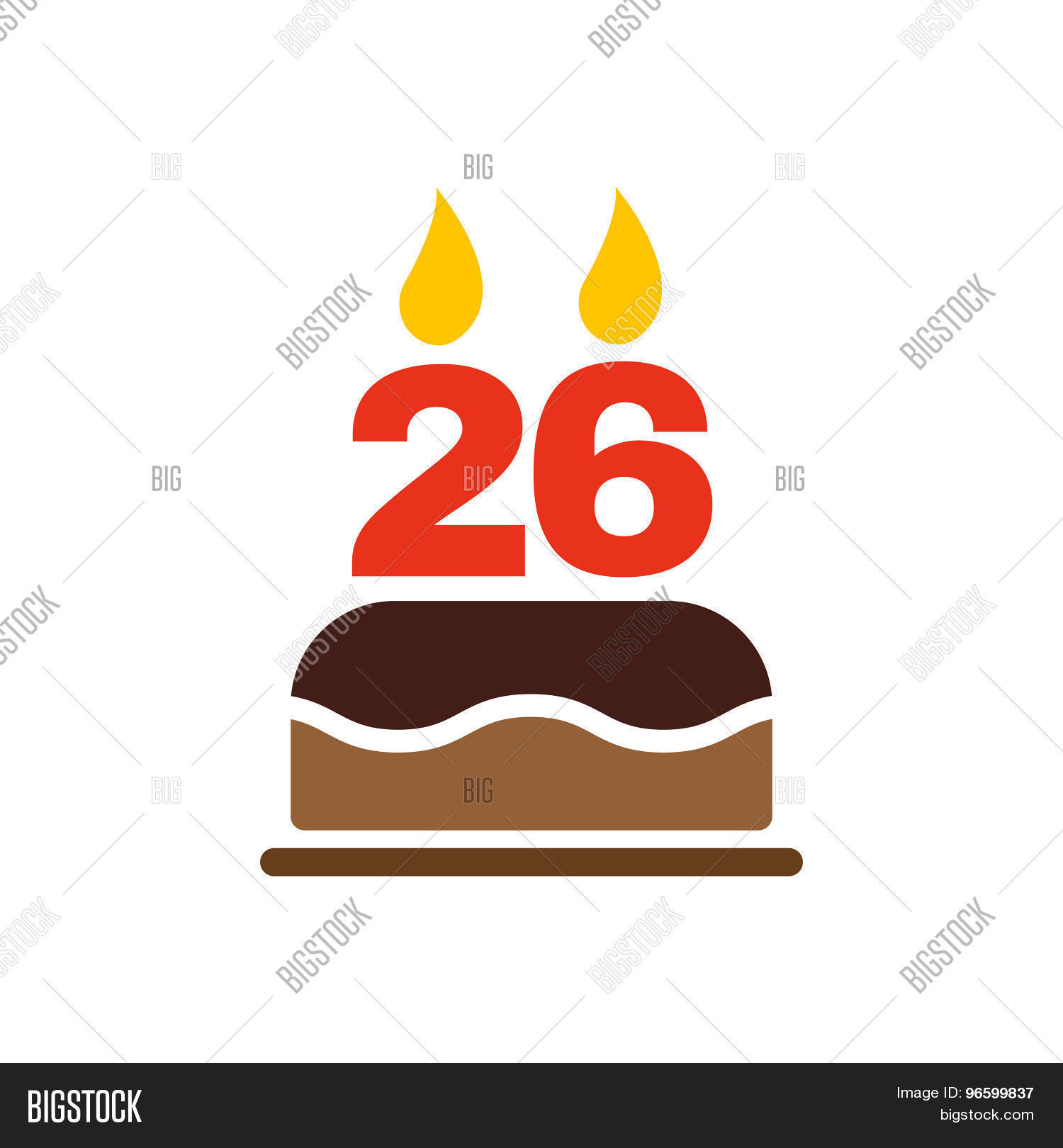 Birthday Cake Candles Vector Photo Free Trial Bigstock