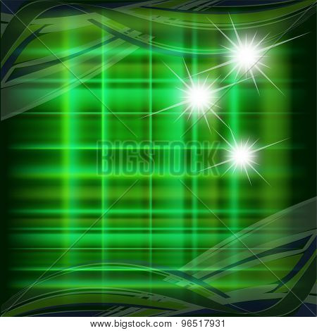 Green pattern with star dotted light vector