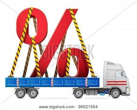 Road Transportation Of Percentage Symbol