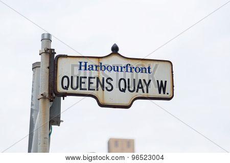 Queens Quay In Toronto