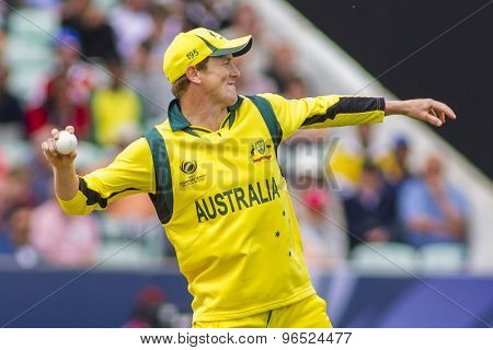 LONDON, ENGLAND - June 17 2013: Australia's George Bailey during the ICC Champions Trophy international cricket match between Sri Lanka and Australia.