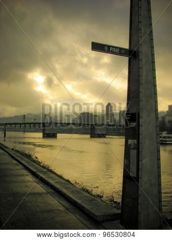 Portland river scene
