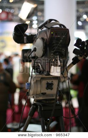 broadcast television camera on a live stage poster