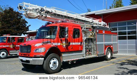 Truck of Tofino Volunteer Fire Department