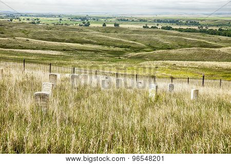 Cemetery And Battlefield At Little Bighorn
