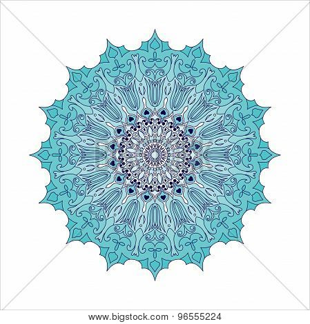 Beautiful vintage Mandala ornament can be used as a greeting card. Mandalas collection. Round Ornament Pattern. Vintage decorative elements. Hand drawn background. Islam, Arabic, Indian, ottoman motifs. Vector poster
