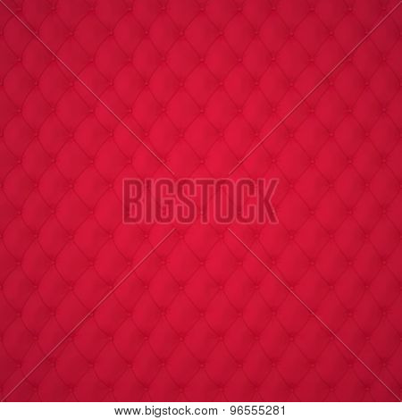 Red Capitone Upholstery Pattern