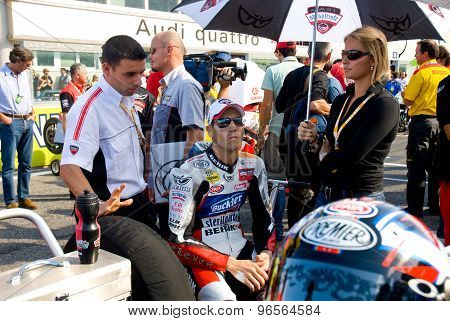 Rome, Italy - September 30 2007. Superbike Championship, Vallelunga Circuit. Ruben Xaus On The Grid