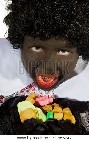 Black Piet Is Eating Pepernoten