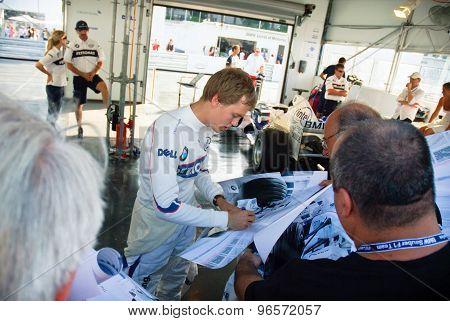 Rome, Italy - June 23 2007. Formula 1 Sauber Bmw Sebastian Vettel Driver Portrait