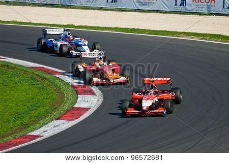 Vallelunga Circuit, Rome, Italy - November 2 2008. Superleague Formula, Cars On Track